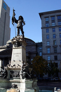 The Monument Maisonneuve in Place d'Armes - Montreal, QC ... October 7, 2006 ... Photo by Emily Conger
