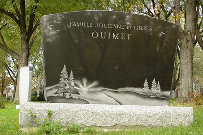 A nice headstone in the Cimetiere Notre-Dame-des-Neiges - Montreal, QC ... October 9, 2006 ... Photo by Rob Page III