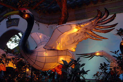 A stork lantern as part of the Lantern Festival in the Jardin Botanique - Montreal, QC ... October 8, 2006 ... Photo by Rob Page III