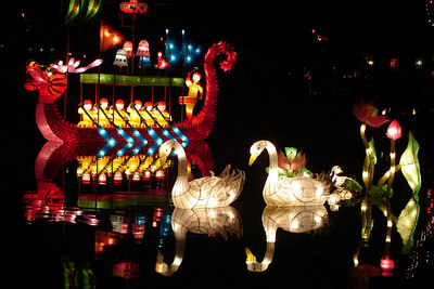 Part of the Lantern Festival in the Jardin Botanique - Montreal, QC ... October 8, 2006 ... Photo by Rob Page III