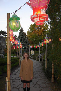 Emily enjoying the Lantern Festival in the Jardin Botanique - Montreal, QC ... October 8, 2006 ... Photo by Rob Page III