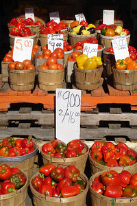 Vegetables at the Marche Jean Talon - Montreal, QC ... October 8, 2006 ... Photo by Rob Page III