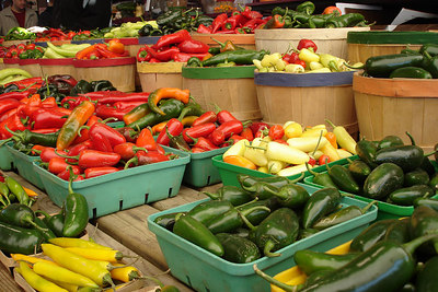 Peppers at the Marche Jean Talon - Montreal, QC ... October 8, 2006 ... Photo by Emily Conger