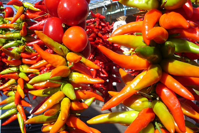 Peppers at the Marche Jean Talon - Montreal, QC ... October 8, 2006 ... Photo by Rob Page III