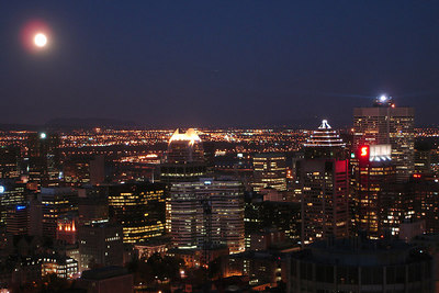 The city at night - Montreal, QC ... October 7, 2006 ... Photo by Rob Page III