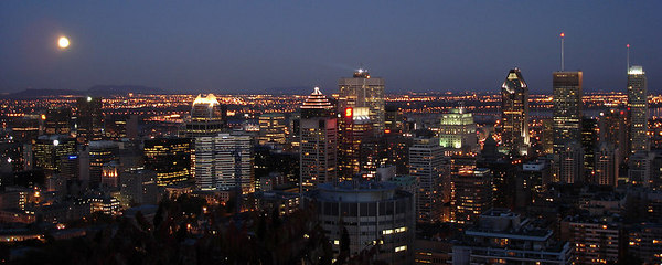 The city at night - Montreal, QC ... October 7, 2006 ... Photo by Emily Conger