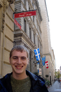 Rob enjoying the streets of the city - Montreal, QC ... October 7, 2006 ... Photo by Emily Conger