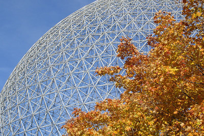 The Canadian Maple with the Biosphere - Montreal, QC ... October 8, 2006 ... Photo by Rob Page III
