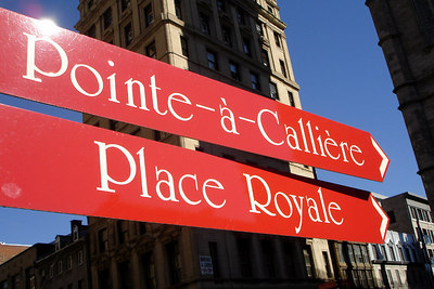 Some of the street signs in Old Montreal - Montreal, QC ... October 7, 2006 ... Photo by Rob Page III