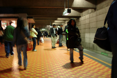 Inside the Montreal Metro at Lionel-Groulx Station - Montreal, QC ... October 7, 2006 ... Photo by Emily Conger