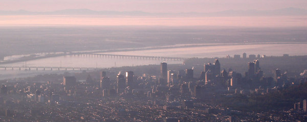 The city from the air - Montreal, QC ... October 7, 2006 ... Photo by Emily Conger