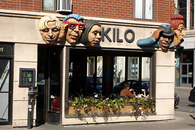 Kilo is a favorite meeting spot for people before going out in the Village - Montreal, QC ... October 7, 2006 ... Photo by Rob Page III
