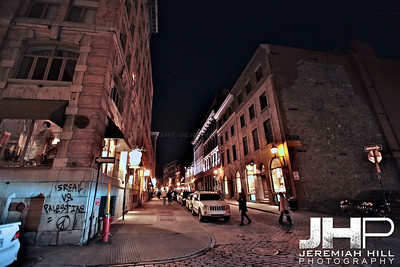 """Old Montreal At Night #1"", Montreal, Quebec, 2013 Print JP13-426-0275"