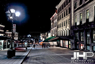 """Old Montreal At Night #2"", Montreal, Quebec, 2013 Print JP13-426-0290"