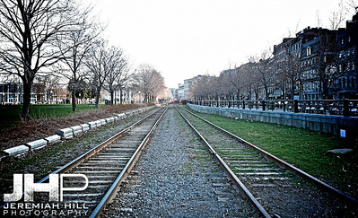 """Old Montreal Railway Tracks #1"", Montreal, Quebec, 2013 Print JP13-426-0041"