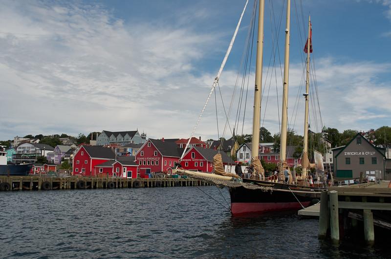 Schooner at the dock