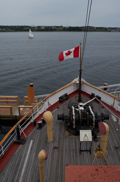 Deck of the CSS Acadia
