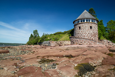 Historic bathhouse on Minister's Island, in the Bay of Fundy, near St. Andrews, NB.