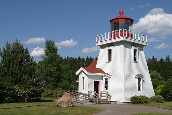 The Lightouse at St Martins, New Brunswick