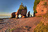 Sunrise on Hopewell rocks