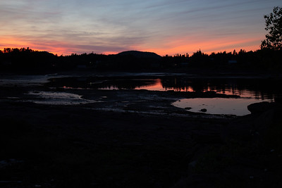 Sunset as the tide goes out, near Chamcook, NB
