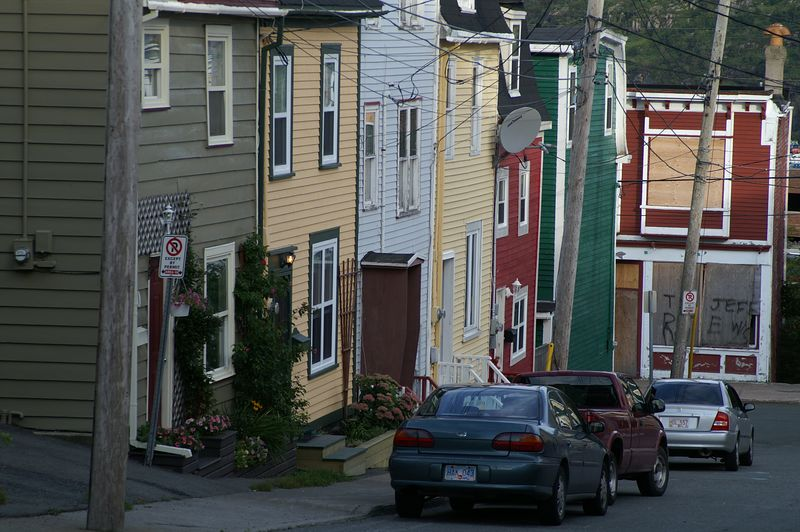 Colourful homes in St. John's