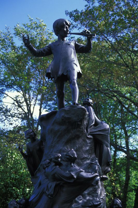 Peter Pan Statue at Bowring Park<br /> (Not Hyde Park in London :-))