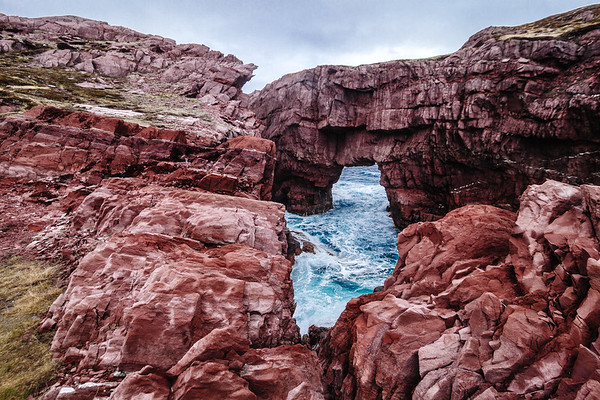 Rock formation near the small village of Tickle Cove, Newfoundland.
