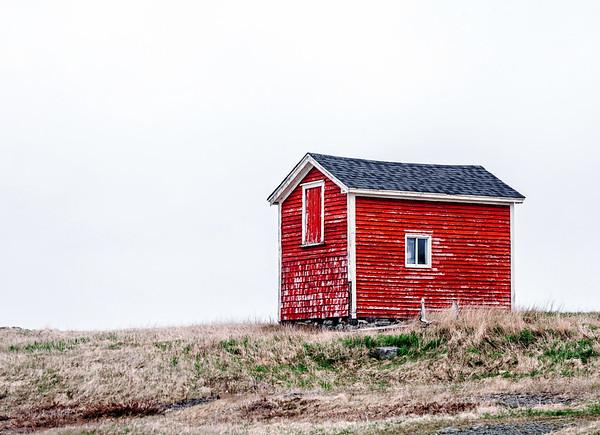 Little red house on the  Bonavista Peninsula in Newfoundland.