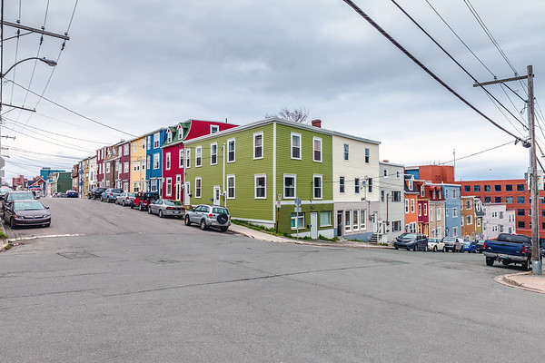 Colorful houses of St. John's, Newfoundland