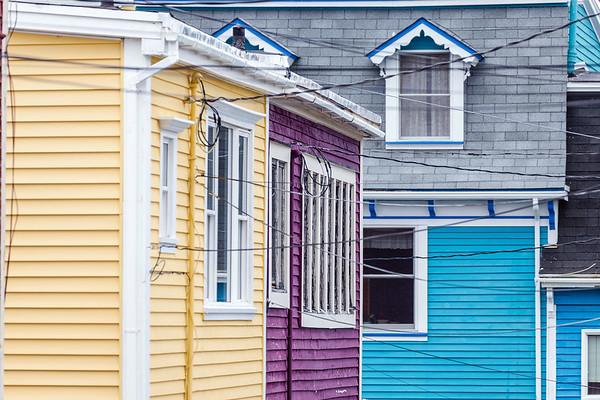 Colorful houses of St. John's, Newfoundland