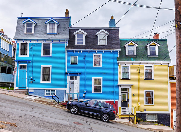 Colorful houses in downtown St. John's, Newfoundland
