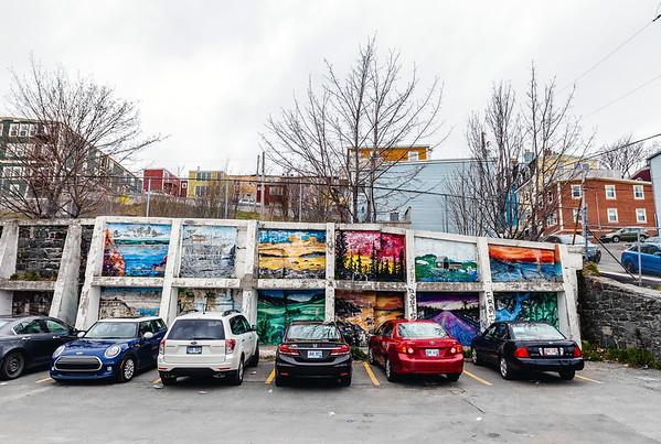 Street art in a parking in St. John's, Newfoundland