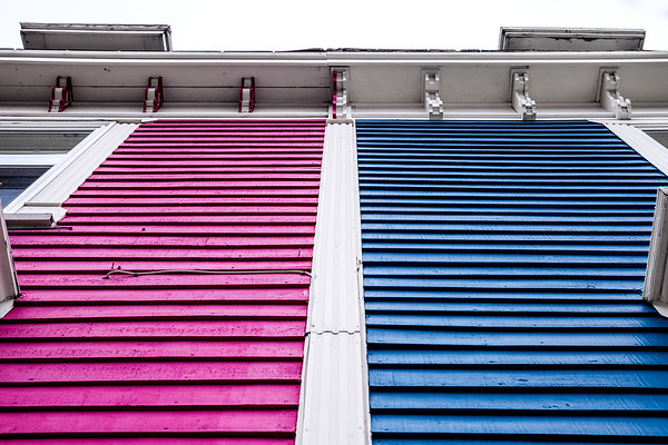 Colourful houses in St. John's, Newfoundland