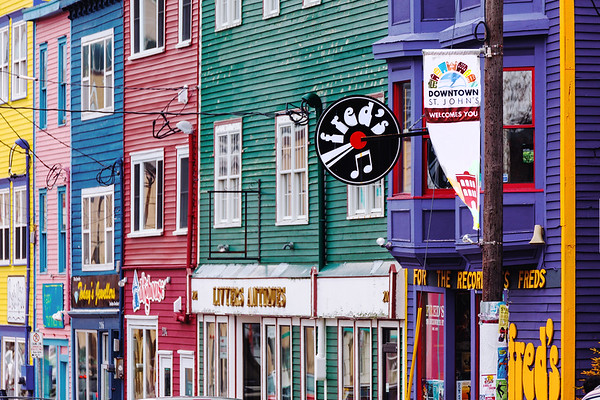 Shops in downtown St. John's, Newfoundland