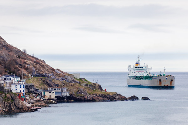 A ship entering St. John's Harbour, Newfoundland