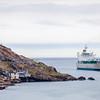 A ship entering St. John's Harbour, Newfoundland
