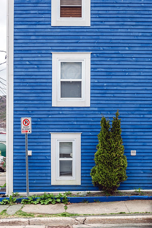 Blue building in St. John's, Newfoundland