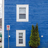 Blue building in St. John's, Newfoundland