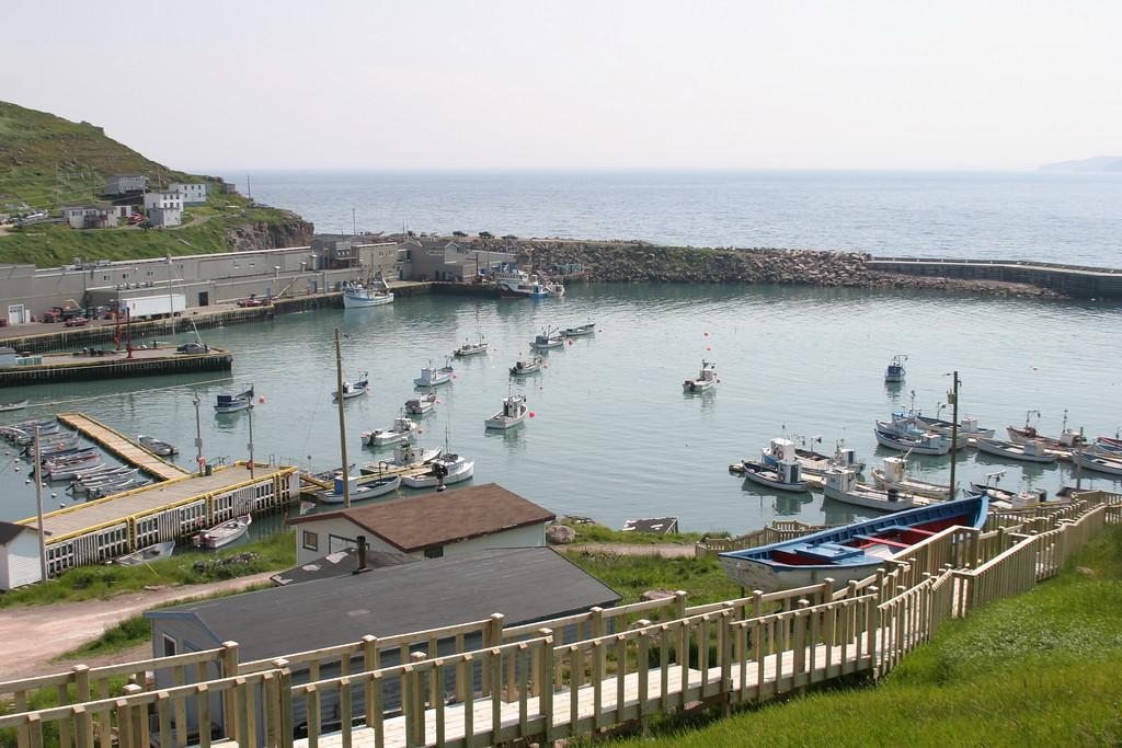 The inner harbour of the town of Bay de Verde, Newfoundland