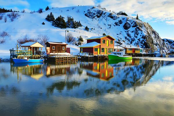 Quidi Vidi Village and great reflection