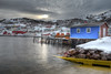 Blue building and Petty Harbour