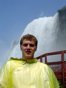 Rob in front of the American Falls - Niagara, NY ... June 13, 2005 ... Photo by Rob Page III