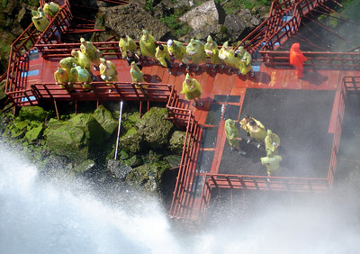 The Cave of the Winds tour from the top of the American Falls - Niagara, NY ... June 13, 2005 ... Photo by Rob Page III