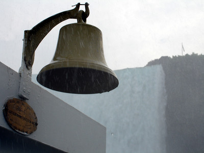 The bell of the Maid of the Mist - Niagara Falls, Canada ... June 12, 2005 ... Photo by Rob Page III