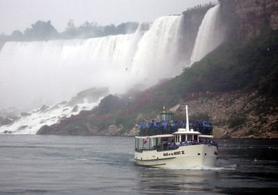 The Maid of the Mist and the American Falls - Niagara Falls, Canada ... June 12, 2005 ... Photo by Rob Page III