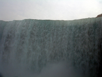 The crest of Niagara Falls.  Look at all the water pouring over - Niagara Falls, Canada ... June 12, 2005 ... Photo by Rob Page III
