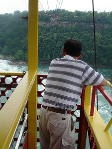 Papa on the Spanish Aerocar above the whirlpool - Niagara Falls, Canada ... June 13, 2005 ... Photo by Rob Page III