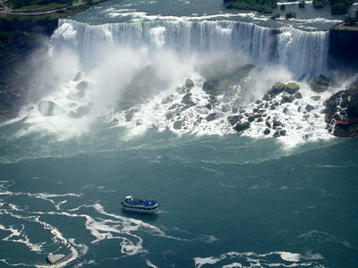 Maid of the Mist and the American Falls - Niagara Falls, Canada ... June 13, 2005 ... Photo by Rob Page III