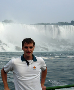 Rob and the American Falls - Niagara Falls, Canada ... June 12, 2005 ... Photo by the Maid of the Mist Captain